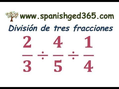 División Tres Fracciones