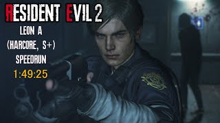 Resident Evil 2 Remake - Леон A (Хардкор) S+ Speedrun [Amateur] - 1:49:25