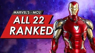 All 22 Marvel MCU Movies Ranked From Worst To Best | Iron-Man - Avengers: Endgame