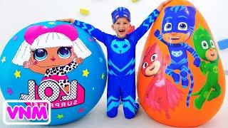 Trứng đồ chơi bất ngờ khổng lồ Mặt nạ PJ VS LOL