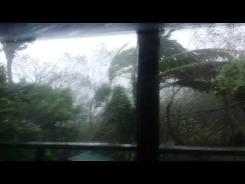 Cyclone Winston on Koro Island, Fiji