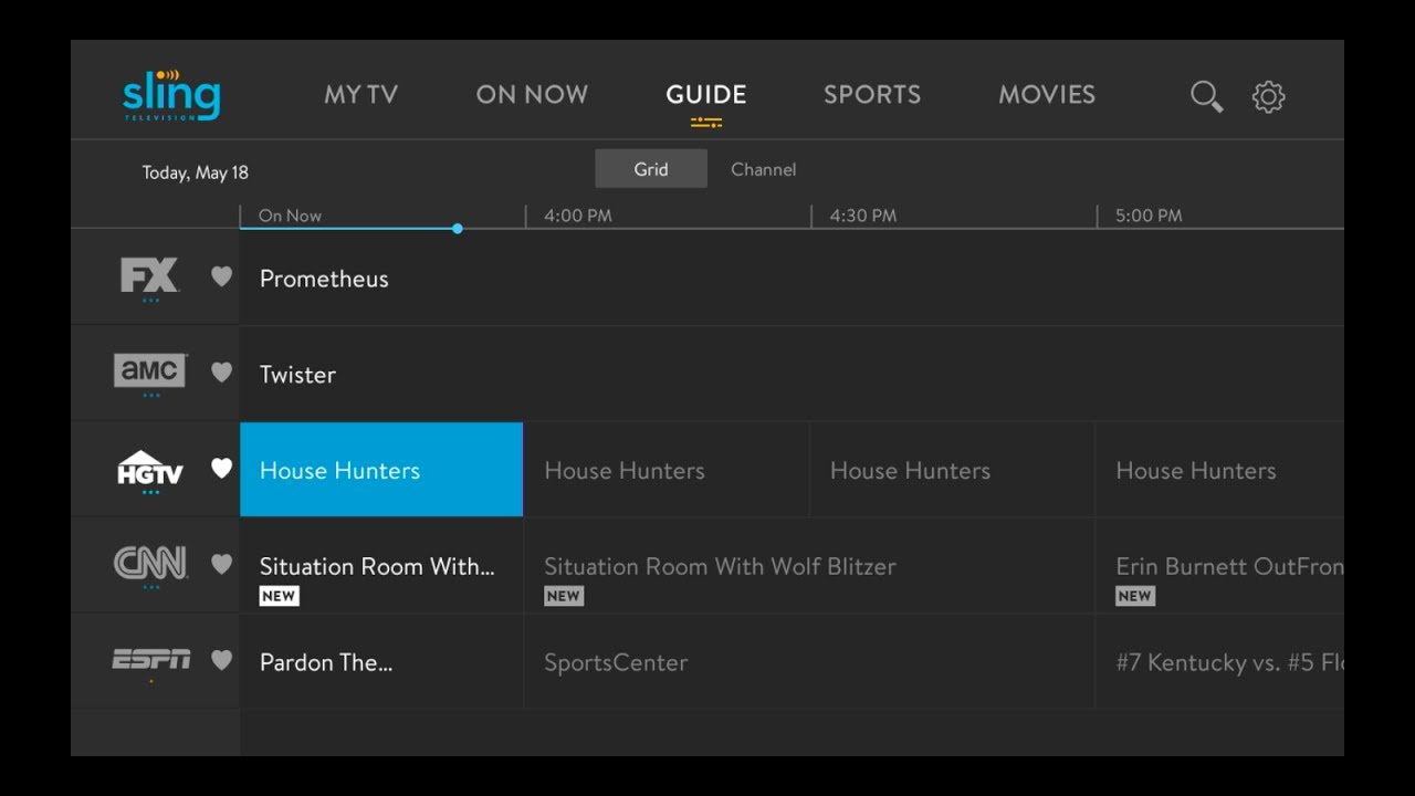 First Look: Sling TV's New Traditional Guide on Roku Devices