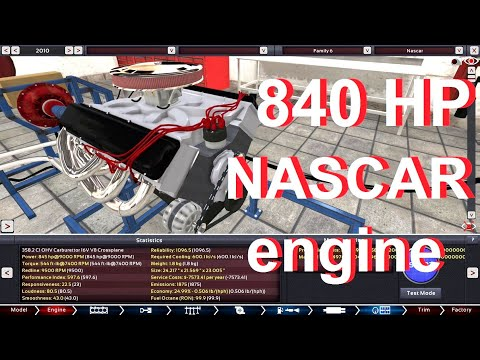 NASCAR 358 Engine Replica In Automation! |