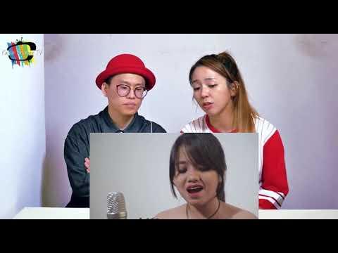 Reaksi Orang Korea Mendengarkan Hanin Dhiya nyanyi Lagu Akad-Payung Teduh