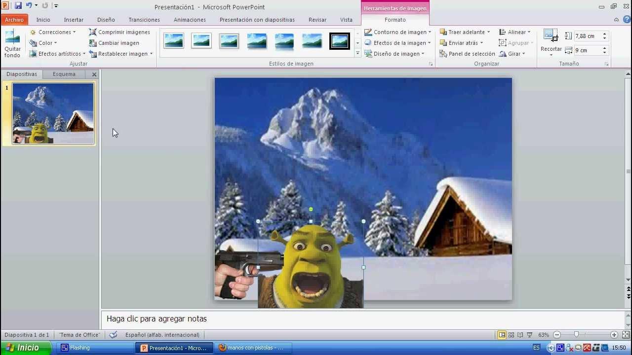 Como hacer un fotomontaje en power point youtube - Como hacer un album de fotos ...