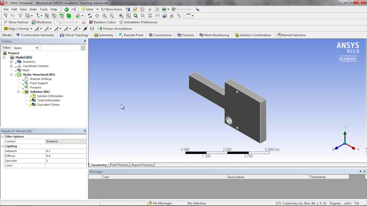 Introduction to SW and ANSYS Workbench (4/4): How to Update SW Model  Changes in ANSYS Workbench