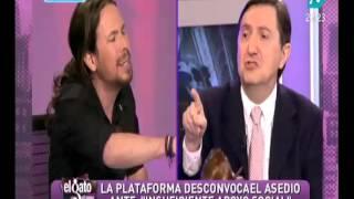 """Jiménez Losantos Vs Pablo Iglesias:""""La izquierda roba en Andalucía y apedrea a la policía en Madrid"""""""