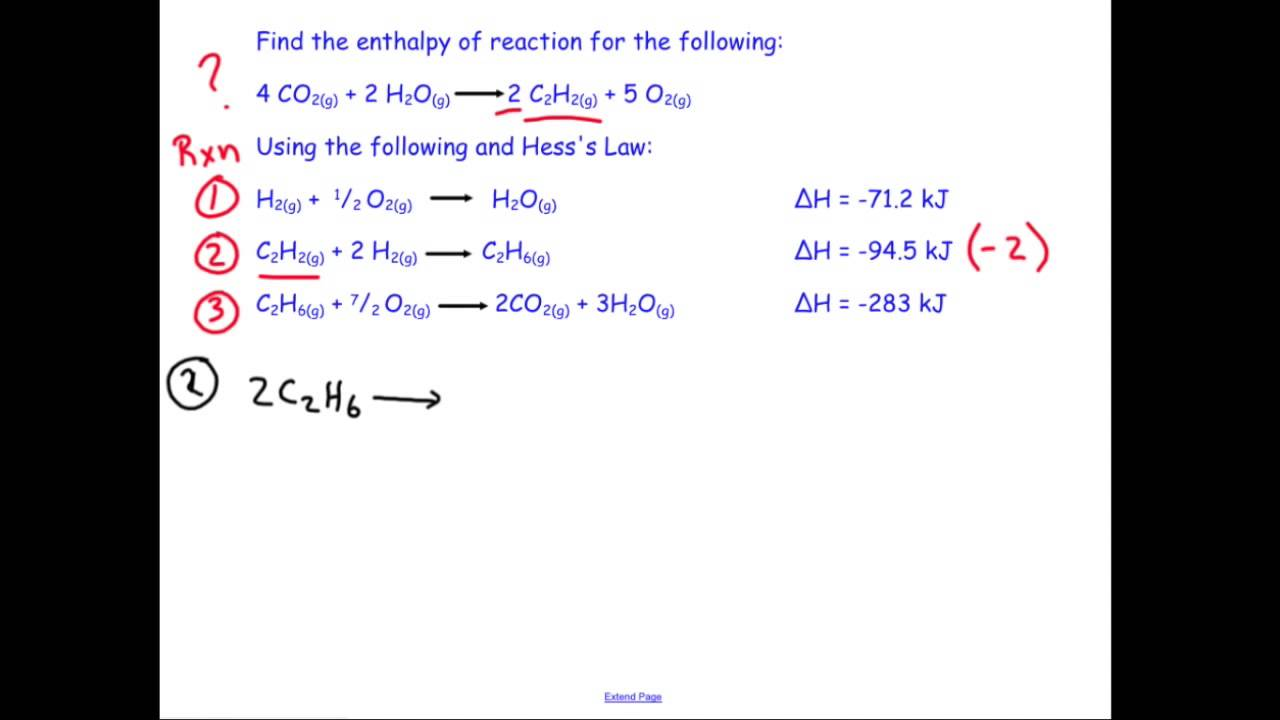 Practicing Hesss Law Chemistry Sample Problem Youtube