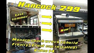 Wrecked Monaco RV Motorhome Rebuild.... Front Cap Install Video 14