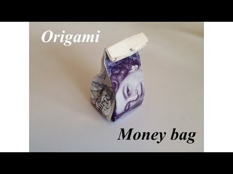 Easy origami. How To Make money bag gatav tutorial