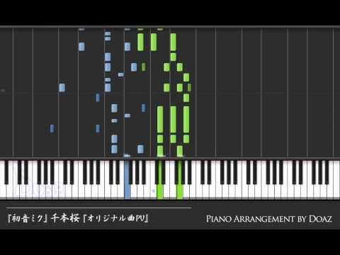 (Synthesia Piano) Senbonzakura, Hatsune Miku Original Song