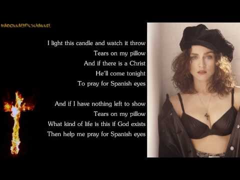 Madonna - Spanish Eyes (Lyrics on Screen)