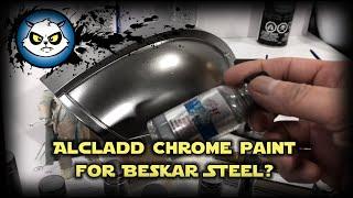 Alclad chrome paint for Mandalorian Beskar finish