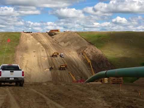Pipeline construction in Alberta Canada