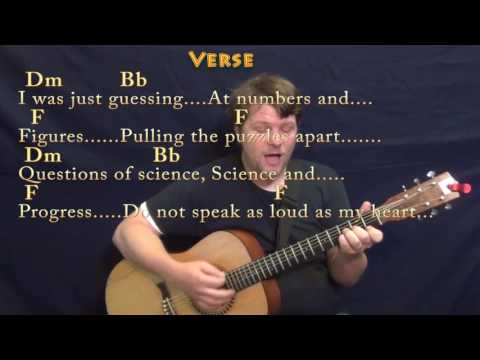 The Scientist (Coldplay) Strum  Cover Lesson in Dm with Chords/Lyrics