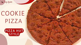 Chocolate Chip Cookie Pizza | Easy Choco Chip Cookie | Choco Chip Pizza Recipe