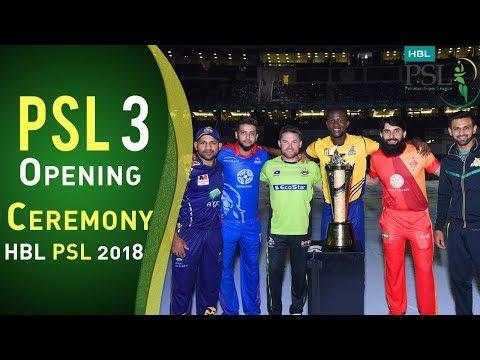 Opening Ceremony   Pakistan Super League 2018   HBL PSL 2018   PSL