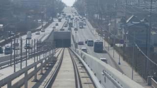 仁川都市鉄道2号線前面展望 篤亭~西区庁 Incheon Subway Line 2 Cab View