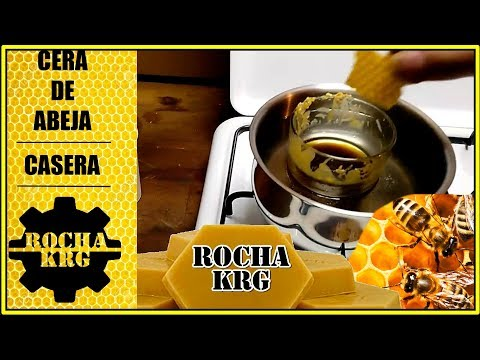 Cera de abeja casera con aceite de linaza / Homemade beeswax With linseed oil