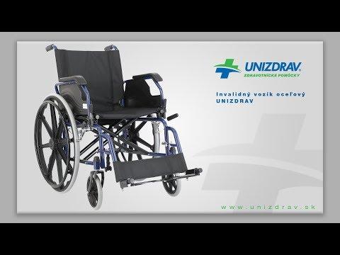 Invalidný vozík oceľový UNIZDRAV - VIDEOMANUÁL