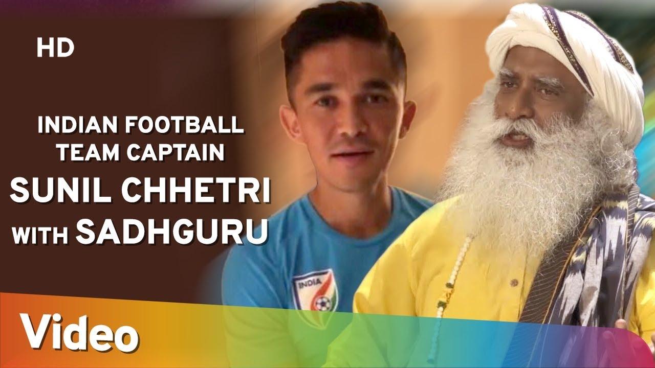 Indian Football Team Captain Sunil Chhetri with Sadhguru - Youth & Truth