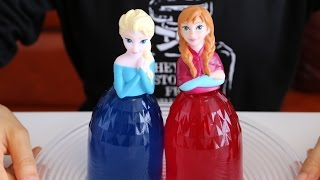 Disney Princess Frozen Dress Dolls Jelly Cake