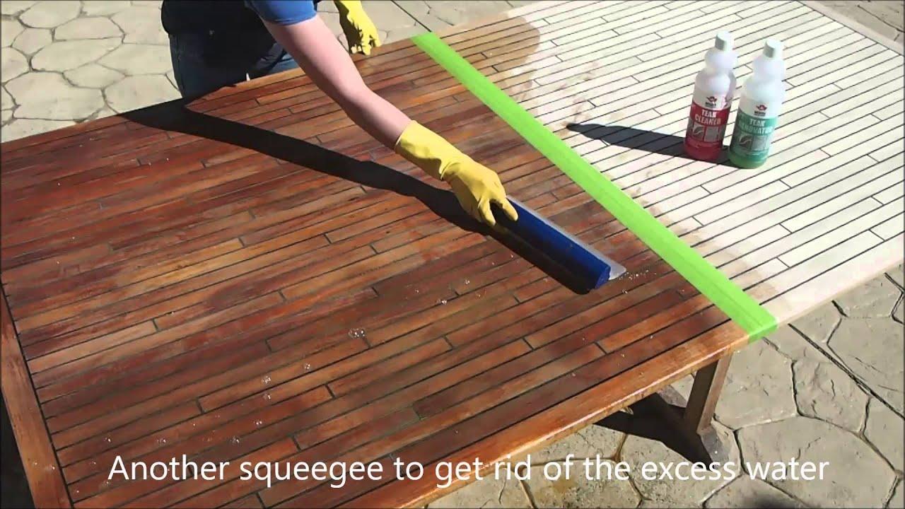 Cleaning The Teak The Marine Teak Way