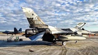 F-16 Aggressors & F-22 Raptors Launch • Checkered Flag Begins