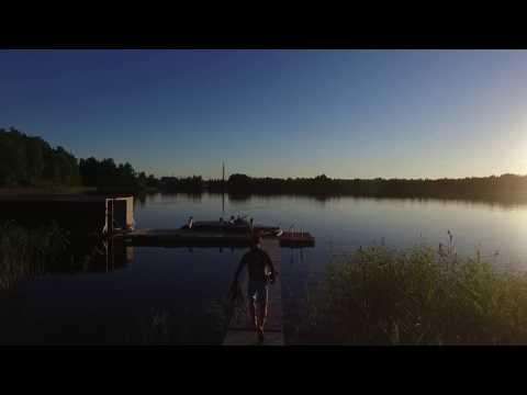 Waterski summer evening 2016, Gävle Sweden 1080p DJI Phantom
