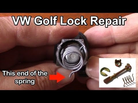 Volkswagen Golf Door lock cylinder repair and assembly tutorial