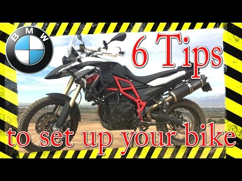 6 tips to make your BMW F800GS fit YOU! without spending any money