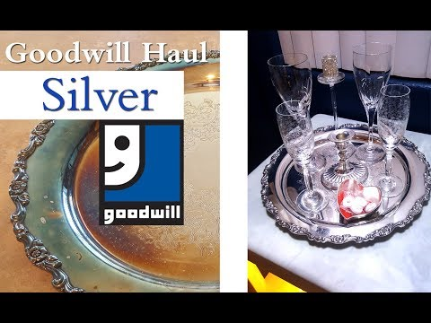 GOODWILL HAUL | ONEIDA SILVER PLATTER CLEANUP AND REVEAL!