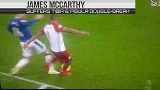 James McCarthy's Horrible Double Leg Breaker Injury   X1 FC