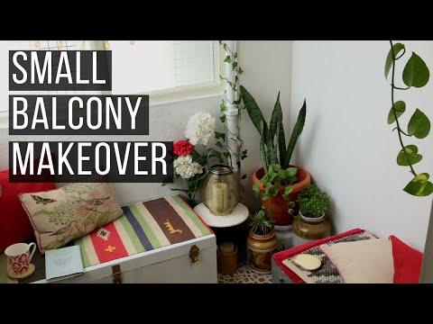 Small Balcony Makeover | Indian balcony | Renter Friendly Balcony Makeover| SimplyPretty Creations |