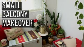 Small Balcony Makeover | Indian balcony | Renter Friendly Balcony Makeover| SimplyPretty Creations |