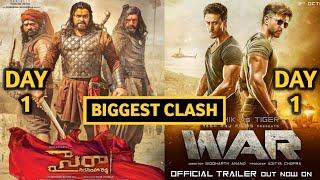 Sye Raa Narasimha Reddy Movie VS War Movie | Hrithik Roshan VS Tiger Shroff | Sye Raa Box Office