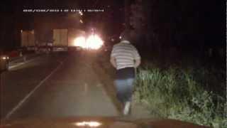 Авария на М 10 Санкт Петербург    Москва 22 08 2012г(, 2012-09-11T11:45:08.000Z)