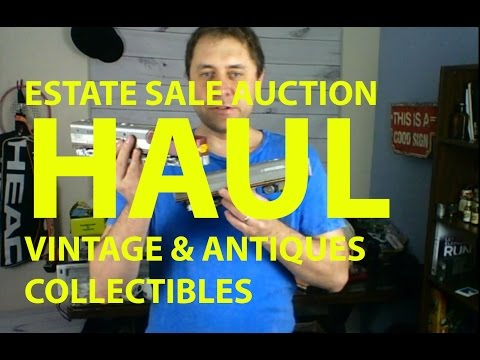 E04 Estate Sale Auction Haul Vintage & Antiques Collectibles To Resell Online