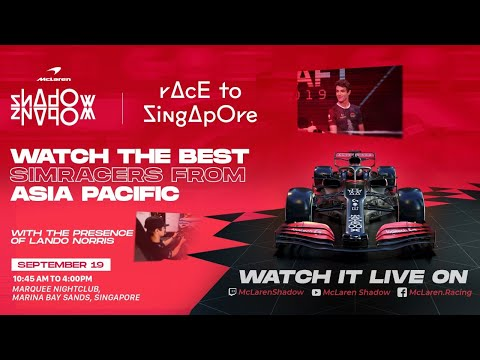 Race to Singapore - McLaren Shadow Asia Pacific Finals