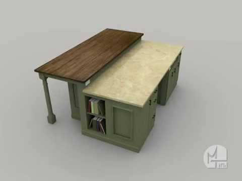 Vote no on cuisine ultra moderne avec lot central taupe for Cuisine 3d autocad
