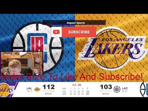 NBA Clippers Vs Lakers Live Score!