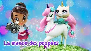 Vidéo en français pour enfants. Princesse Nella sur la montagne. Poupées pour les filles