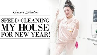 SPRING CLEANING MY WHOLE HOUSE FOR NEW YEAR!   SPEED CLEANING MOTIVATION