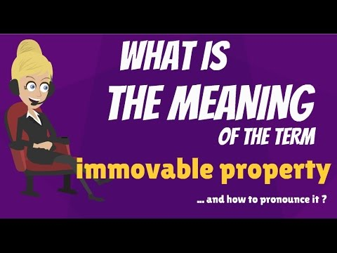 What is IMMOVABLE PROPERTY? What does IMMOVABLE PROPERTY mean? IMMOVABLE PROPERTY meaning
