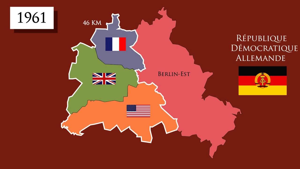 carte allemagne guerre froide L'Allemagne et Berlin, symboles de la Guerre froide (1945 1991