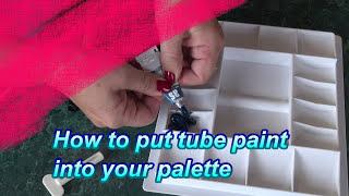 Paint into palette