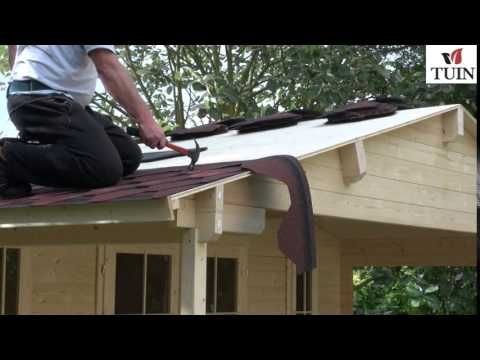Tuin Fitting Felt Shingles Apex Roof Youtube