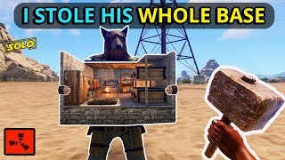 He Was Carrying A WHOLE BASE, And I TOOK IT ALL FROM HIM On WIPEDAY! (Rust Solo EP1)