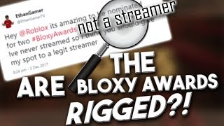 ROBLOX Are the Bloxy Awards Rigged?