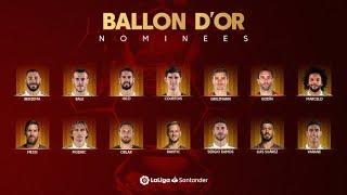 LaLiga Santander, protagonista del Balón de Oro 2018